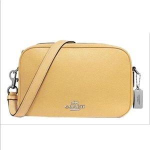 Coach Jess light yellow crossbody bag